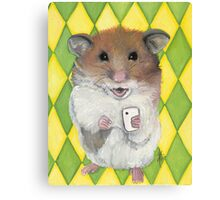 Say Cheese; Hamster with an i phone Canvas Print