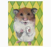 Say Cheese; Hamster with an i phone Kids Tee