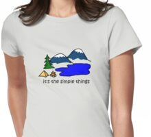 Camping - Simple Things Womens Fitted T-Shirt