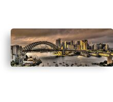 Let There Be Light - Sydney Harbour Sunrise - The HDR Experience Canvas Print