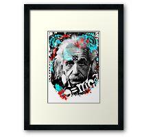 E=mc2 Albert Einstein Abstract portrait Framed Print