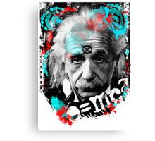 E=mc2 Albert Einstein Abstract portrait Canvas Print