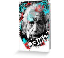 E=mc2 Albert Einstein Abstract portrait Greeting Card