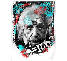 E=mc2 Albert Einstein Abstract portrait Poster