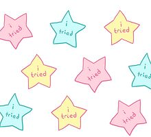 """Spoonie Achievement:  """"i tried"""" stars by spooniestickers"""