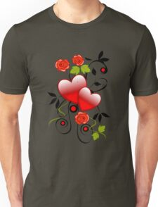 Hearts and roses Unisex T-Shirt