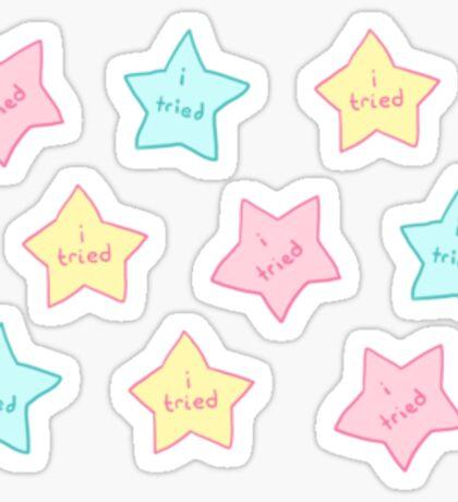 """Spoonie Achievement:  """"i tried"""" stars Sticker"""