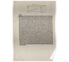Measurement With Compass Line Leveling Albrecht Dürer or Durer 1525 0072 Repeating Shapes Poster