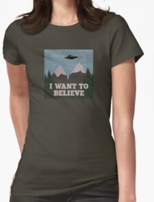 X-Files Twin Peaks mashup Womens Fitted T-Shirt