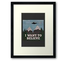 X-Files Twin Peaks mashup Framed Print