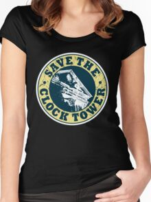 Save The Clock Tower (White Background) Women's Fitted Scoop T-Shirt