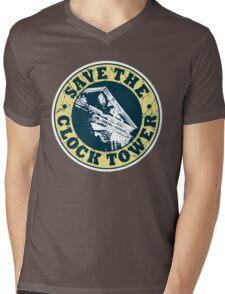 Save The Clock Tower (White Background) Mens V-Neck T-Shirt