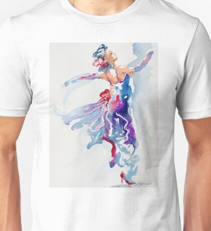 Grace in Purple and Blue Unisex T-Shirt