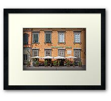 Restaurant Giglio - Lucca Framed Print