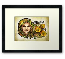 Kamila of August Framed Print
