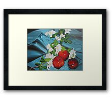 Apples and Cherry Blossoms Framed Print