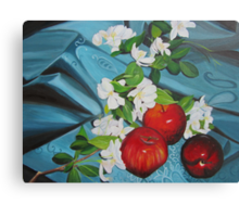 Apples and Cherry Blossoms Canvas Print
