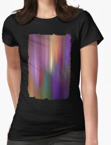 Fractal abstract with light effects Womens Fitted T-Shirt