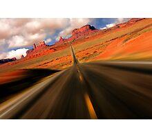 Monument Valley Speeding Photographic Print