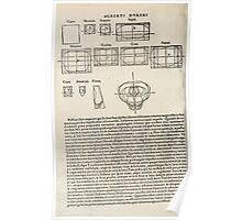 Famous Painter Parts Human Body Symmetry Four Books Geomety 1557 Albrecht Durer 0236 Stances Poster