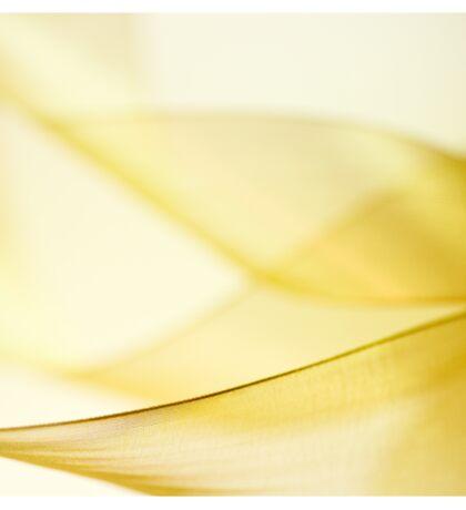 Gold Ribbon Sticker