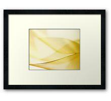Gold Ribbon Framed Print