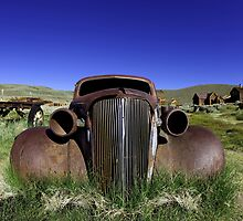 Vintage Rusted Old Car in Bodie California by Katrina Brown