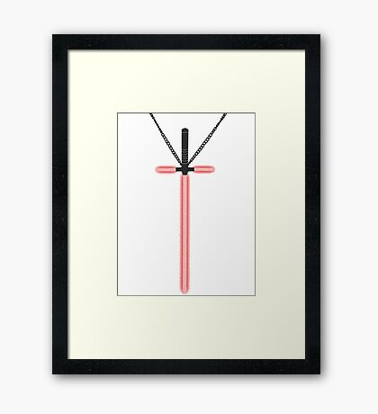 Lightsaber Cross Framed Print