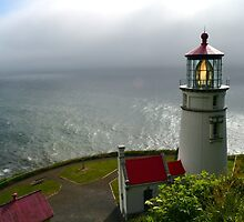 Haceta Head Lighthouse by sketchpoet