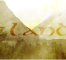 OUTLANDER Scotland Mountain Design Scottish Scenery Sticker