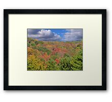 Painted Mountain Framed Print