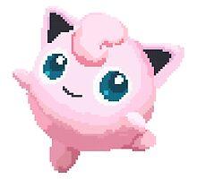 Jigglypuff Pixels Pokemon by niymi