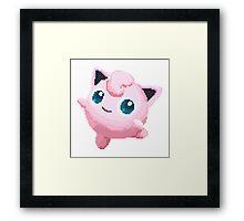 Jigglypuff Pixels Pokemon Framed Print