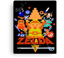 Star Wars Movie Poster Meets A Zelda Themed Epic Win! Canvas Print