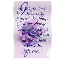 Serenity Prayer.... Poster