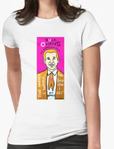 Buck Owens Country Pop Folk Art Womens Fitted T-Shirt