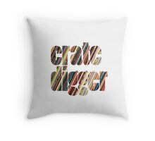 Crate Digger Vinyl Records Throw Pillow