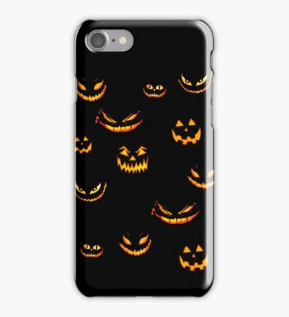 Halloween Glowing Jack o Lantern iPhone Case/Skin