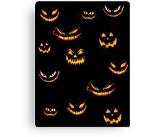 Halloween Glowing Jack o Lantern Canvas Print