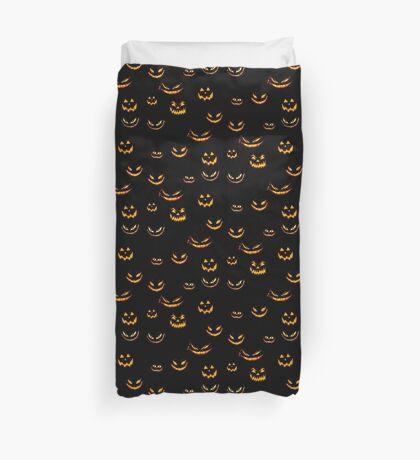 Halloween Glowing Jack o Lantern Duvet Cover