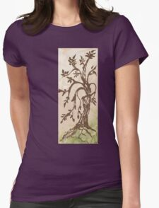 Young Willow Tree, Going With the Flow Womens Fitted T-Shirt