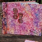 example 1 - my handmade & dyed papers as photo album  by tuesday