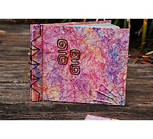 example 1 - my handmade & dyed papers as photo album  Photographic Print