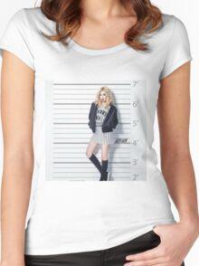 HYUNA- cute Women's Fitted Scoop T-Shirt