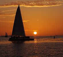 The most beautiful sunsets happen in Key West, FL by Susanne Van Hulst