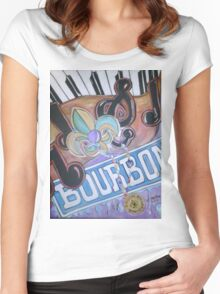 Bourbon Street Collage Women's Fitted Scoop T-Shirt