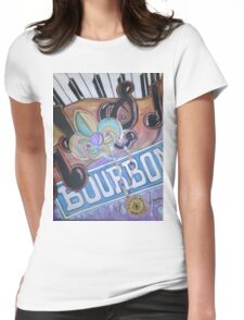 Bourbon Street Collage Womens Fitted T-Shirt