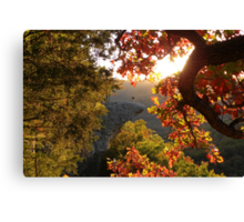 Autumn's Morning Glow, Hawks Bill Crag Canvas Print
