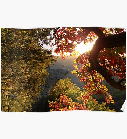 Autumn's Morning Glow, Hawks Bill Crag Poster