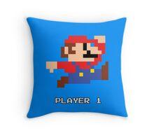 Mario Player 1 Throw Pillow